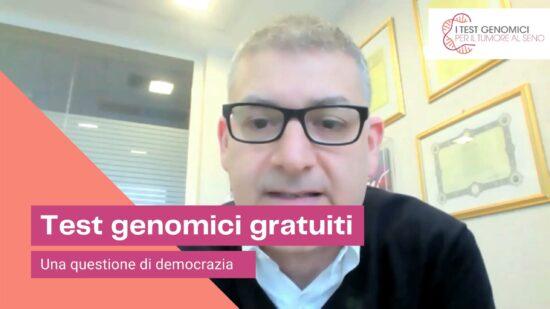"""Curigliano: """"Test genomici gratuiti subito: è una questione di democrazia"""""""
